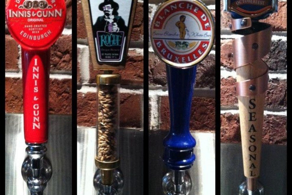 There are 62 varieties of beer on tap at World of Beer.