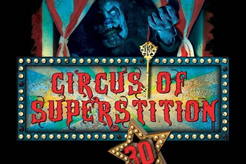 One of the new additions to Howl-O-Scream is the 3D Circus of Superstition