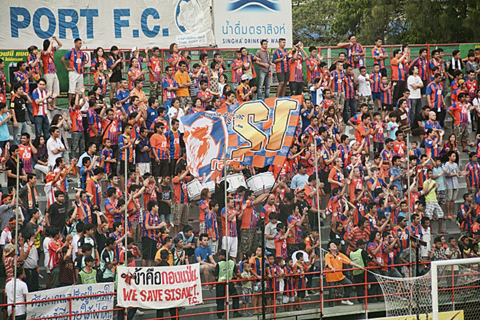 Raucous Thai Port fans