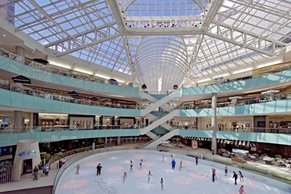 Ice skating rink at the Galleria