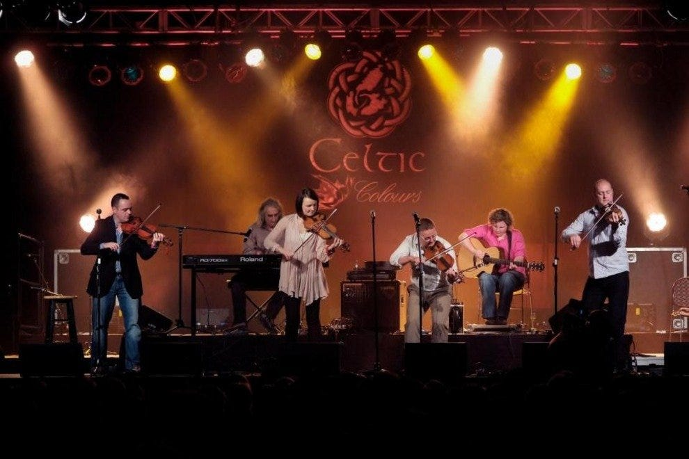 Performers at the Celtic Colours Festival on Cape Breton Island