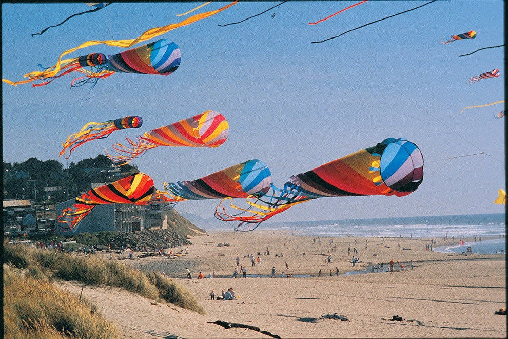 Lincoln City, Oregon's Fall Kite Festival on the beach