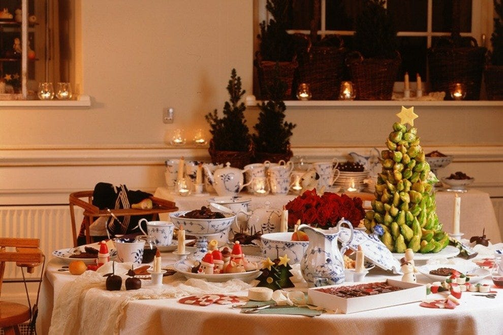 Annual Christmas Tables exhibit at Royal Copenhagen.