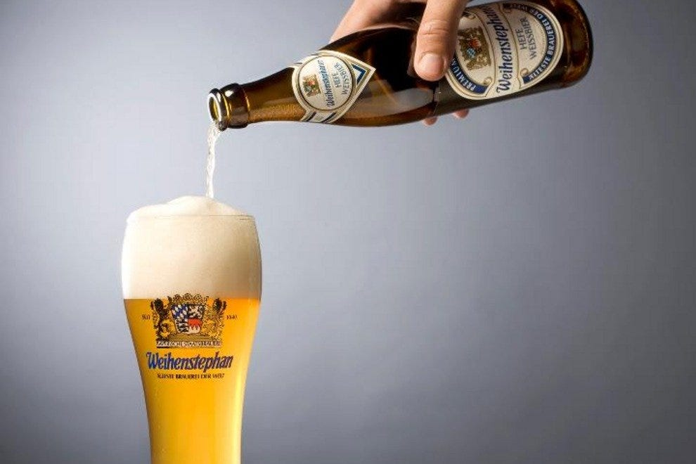Pouring a hefeweizen