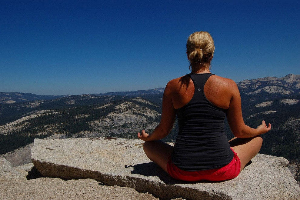 Yosemite's Half Dome is a yoga setting with a big view