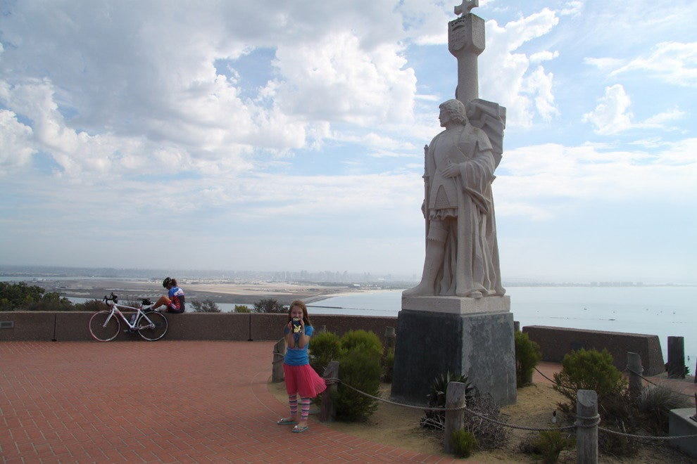 The statue of Juan Rodriguez Cabrillo