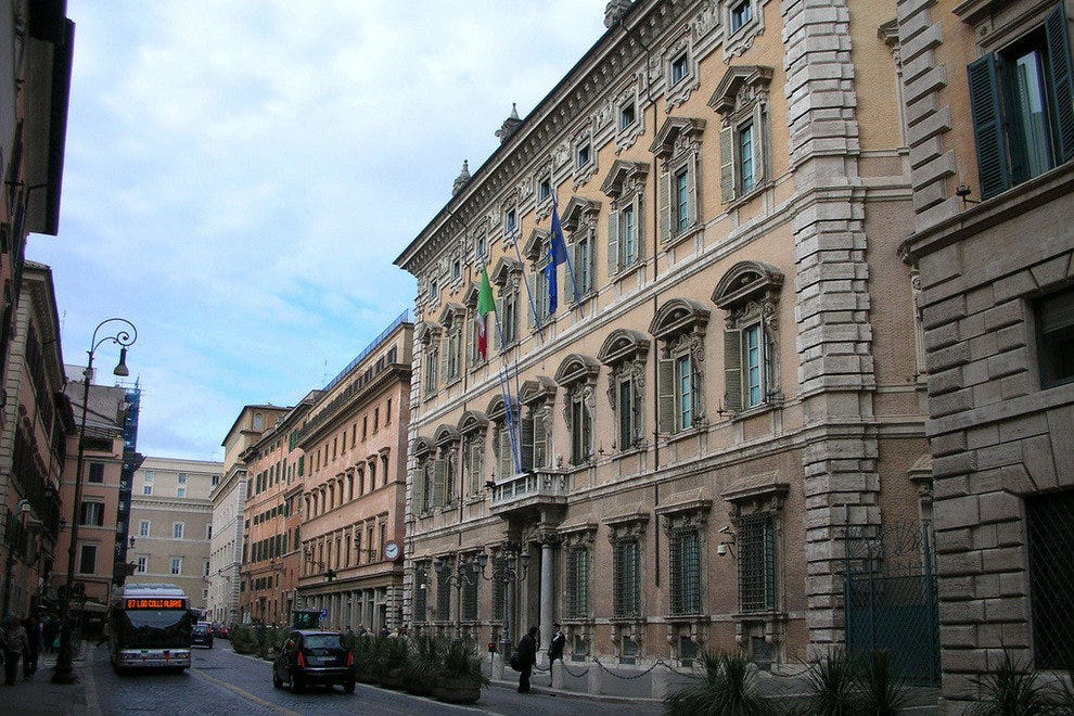 The Italian Senate (Palazzo Madama)