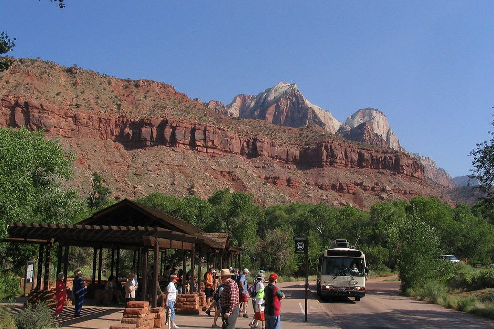 Zion National Park Shuttle Buses