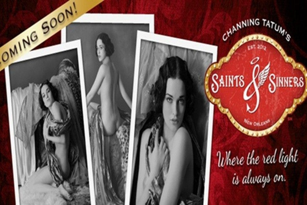 Saints and Sinners, a Channing Tatum creation will be opening in early October 2012