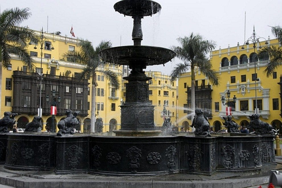 Brass Fountain Plaza Mayor
