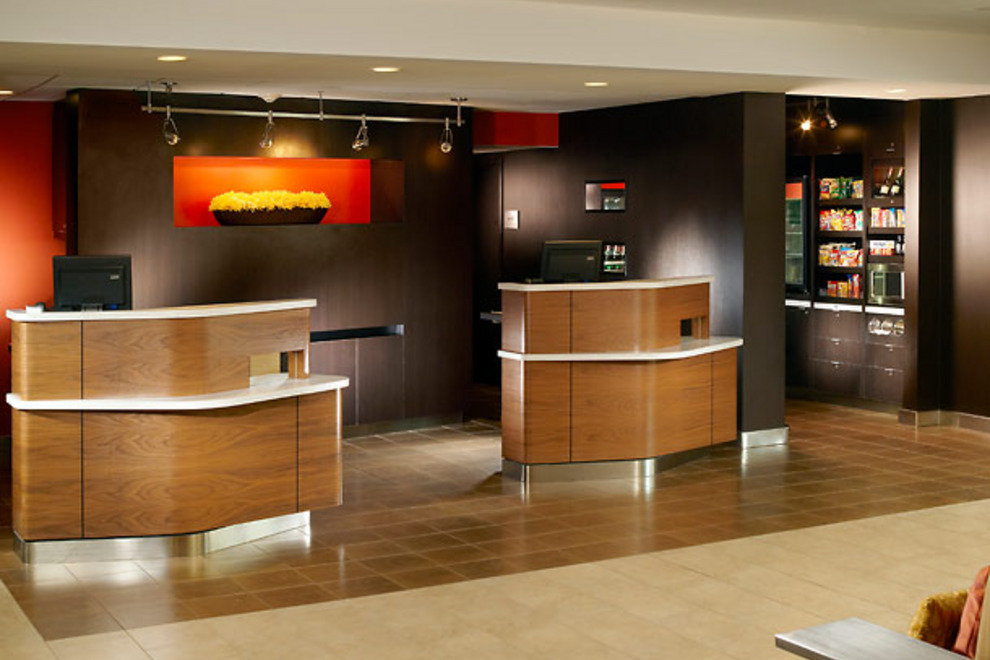 The Courtyard Marriott Midtown's new lobby.