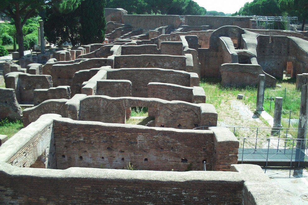 Exploring the Ruins of Ostia Antica