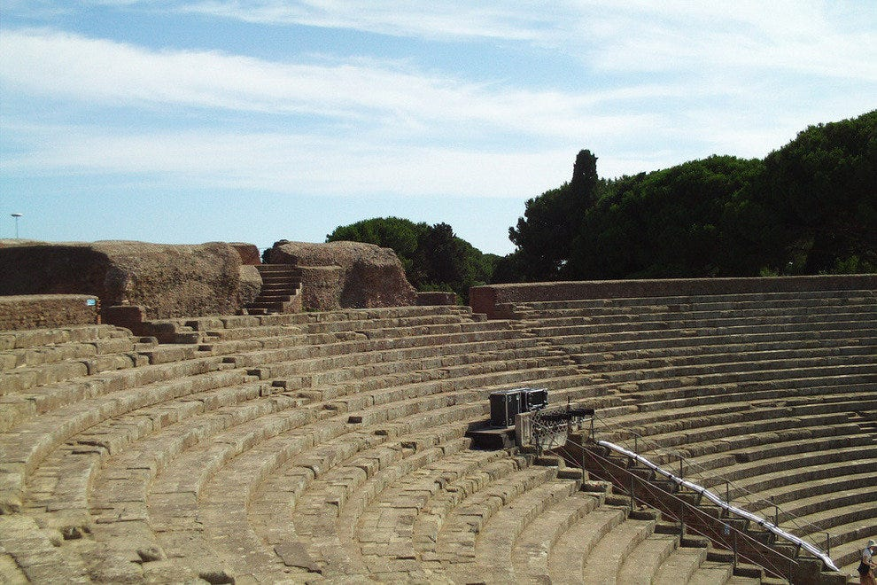 The Amazing Amphitheater at Ostia Antica