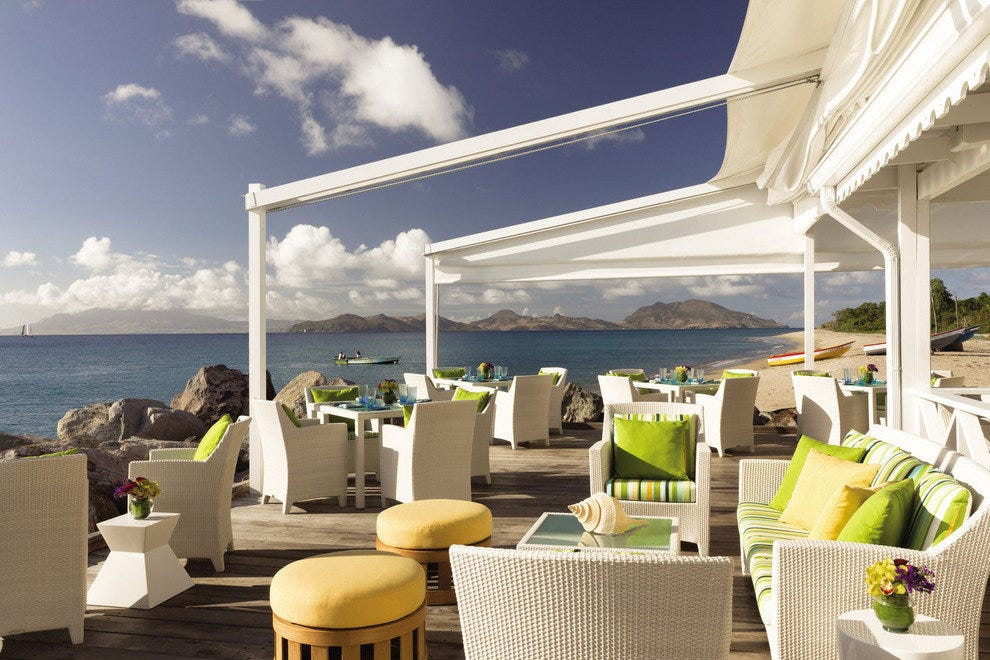 Mango featuring West-Indian dining with views of St Kitts