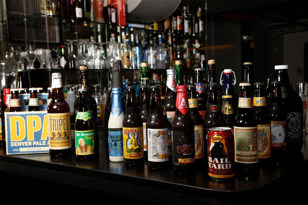 Different types of beer found throughout Colorado