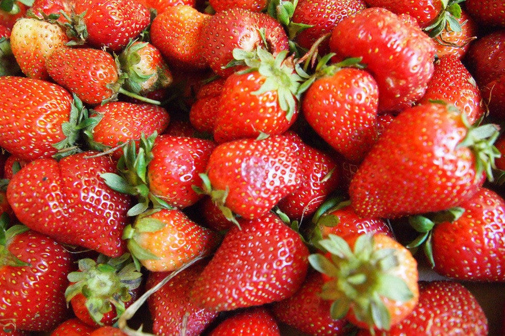 Knaus Berry Farm is aptly named for its juicy, sweet strawberries.