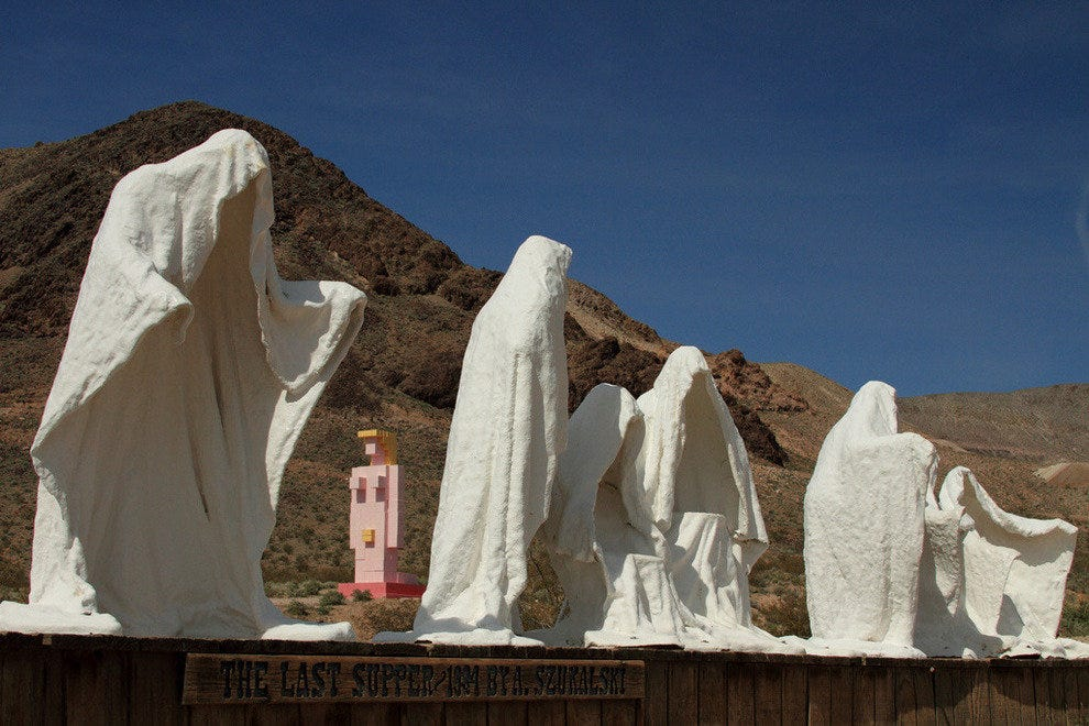 Goldwell Open Air Museum in Death Valley, Nevada