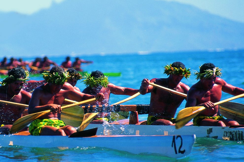Tahiti Outrigger Races