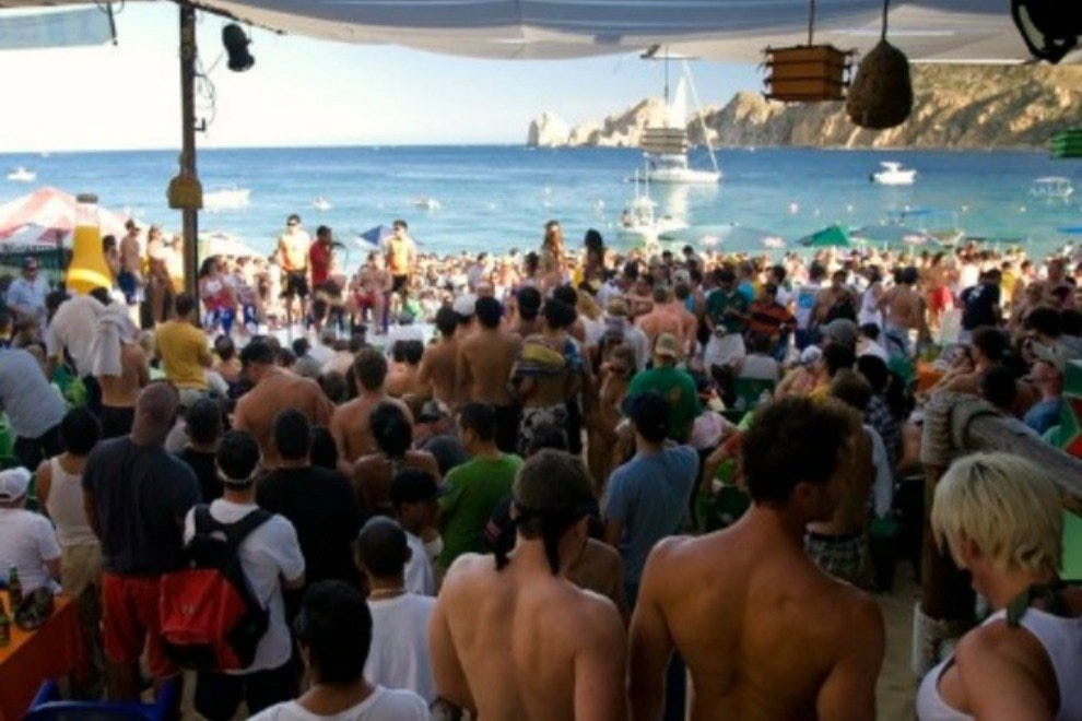 Mango Deck is one of the most popular gathering places on Medano Beach.