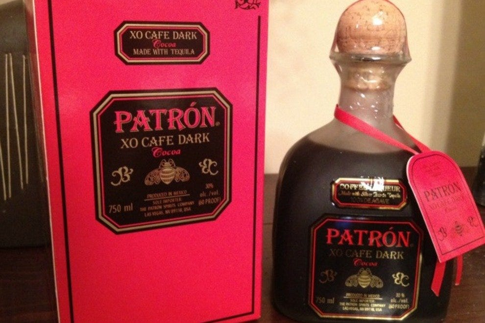 Patron's XO Cafe Dark Cocoa blends chocolate and coffee flavors with premium tequila.