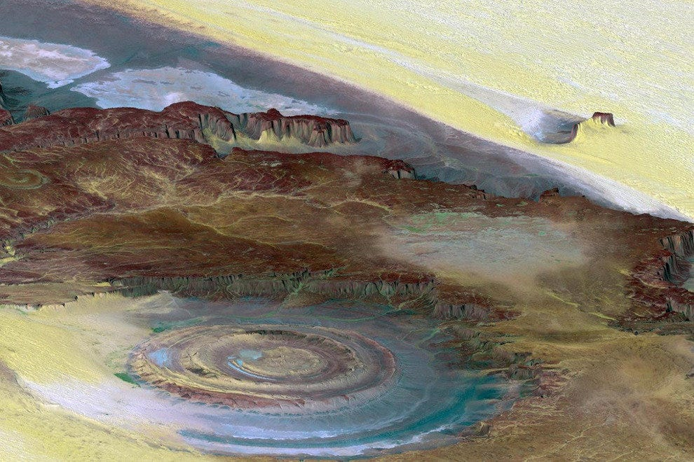 Richat Structure of the Sahara Desert