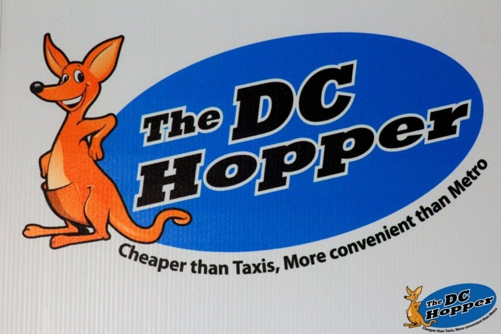 The DC Hopper logo is popping up all over D.C.