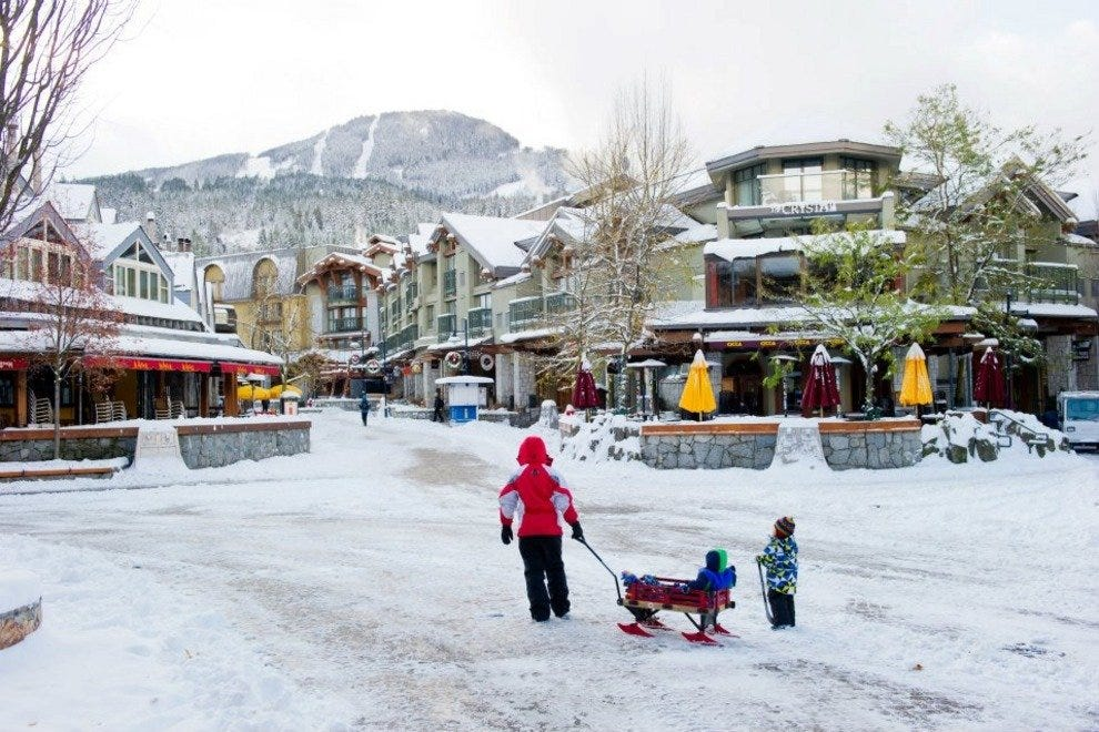 A quiet moment in Whistler Village