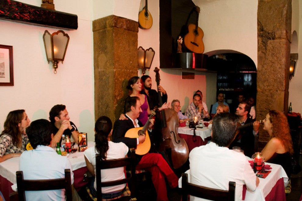 Dinner and music at Clube de Fado in Alfama