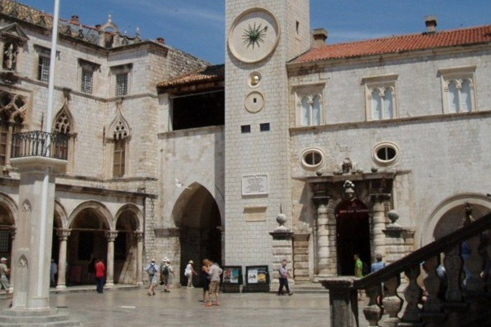Luza square in Dubrovnik.