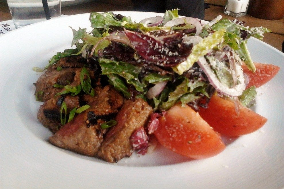 Omnivore's option: the Black and Blue Steak Salad.