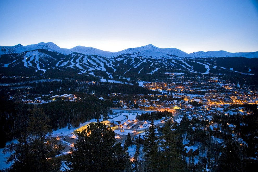 Breckenridge, Colorado at night