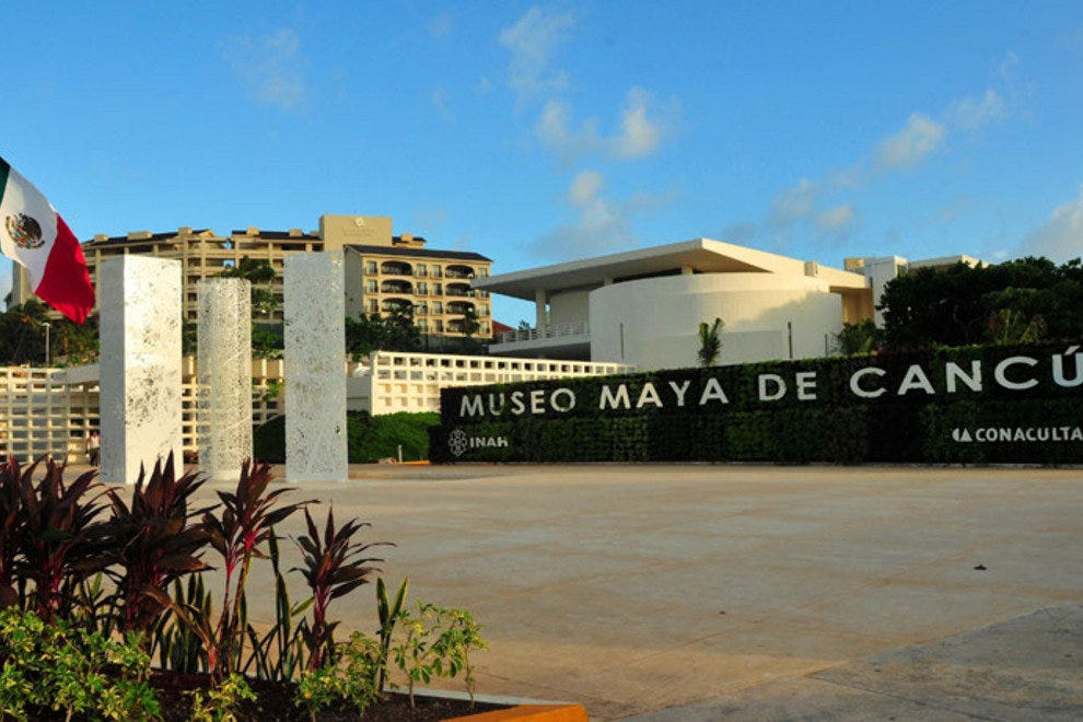 See ancient Mayan artifacts in the heart of the Hotel Zone