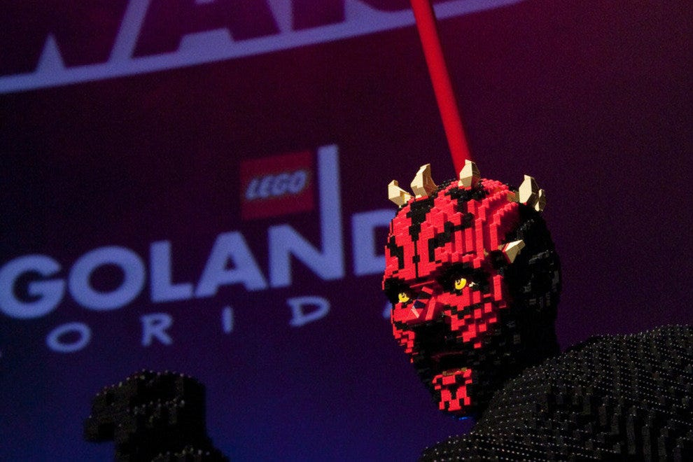 Darth Maul in Legos? Still pretty scary.