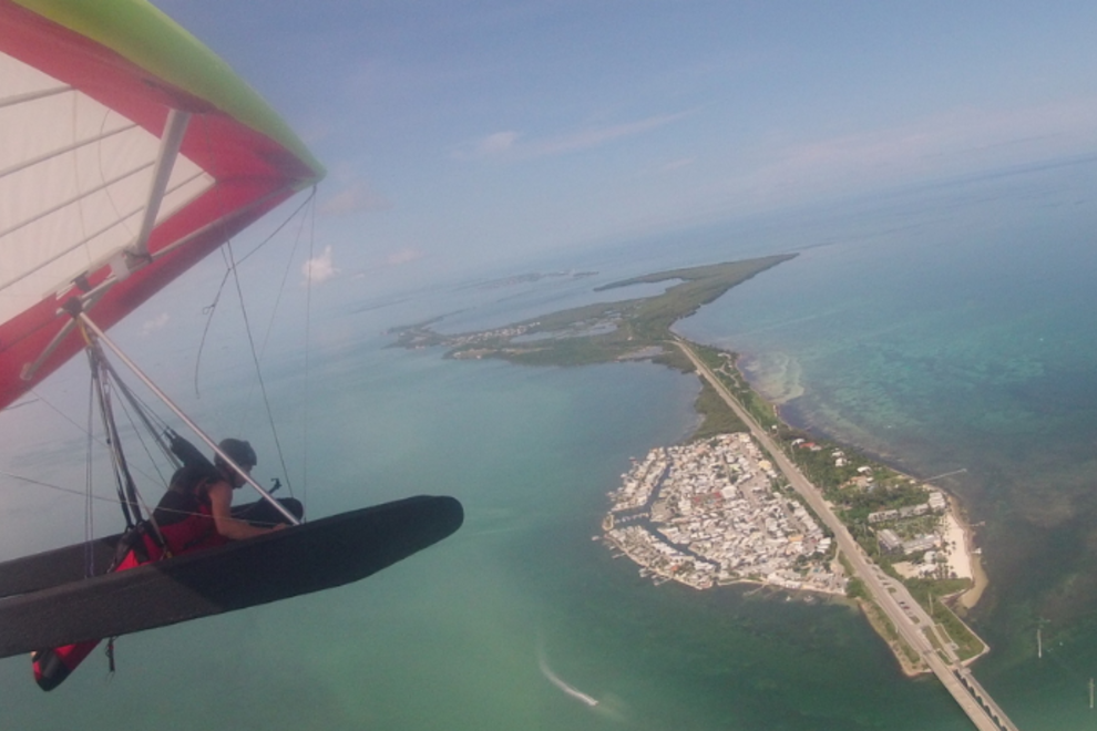 Hang Gliding Over the Keys