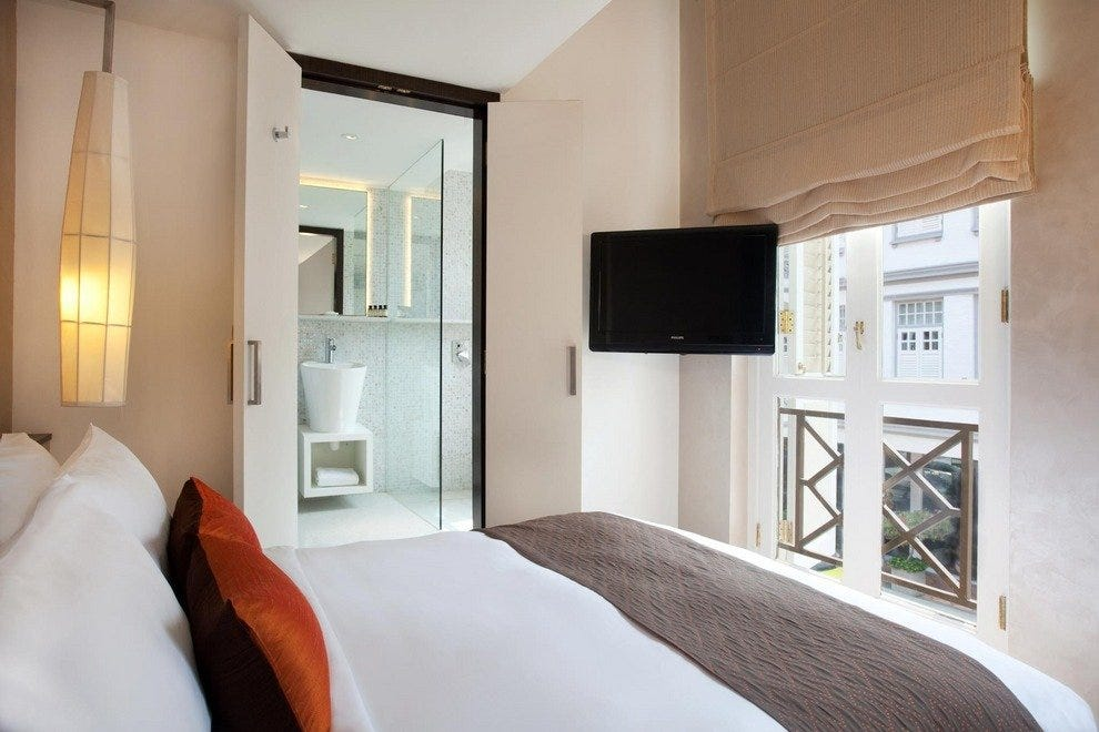 Liora Heritage rooms are characterized by elegant French-style windows