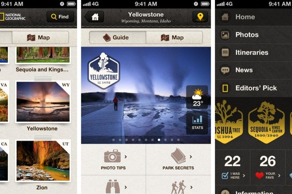 National Geographic app screenshots
