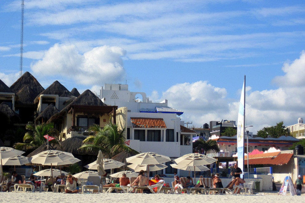 One of Playa's many beach clubs