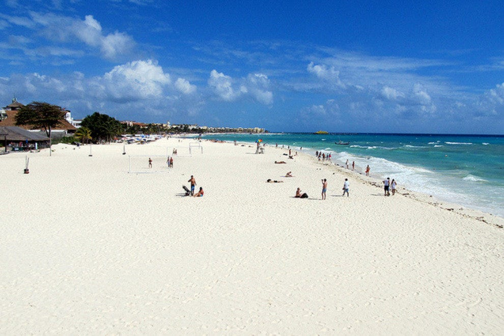 Playa del Carmen boasts a world class beach