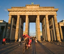 Berlin's Brandenburg Gate at Sunset
