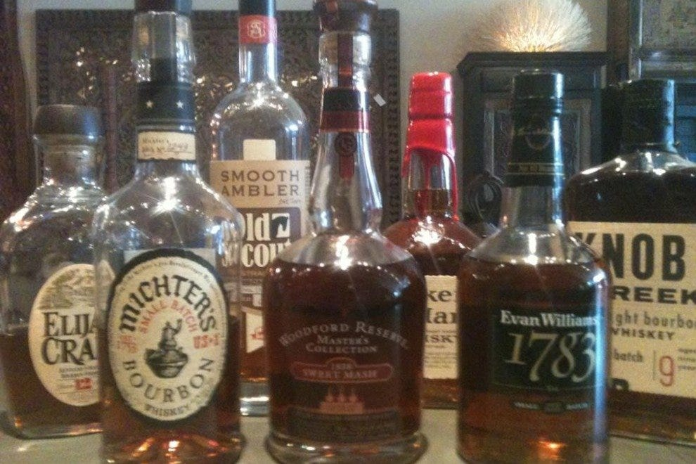 Their collection of fine bourbons is ever-growing.
