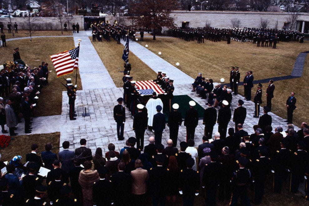 President Harry S. Truman's funeral at the Harry S. Truman Presidential Library and Museum