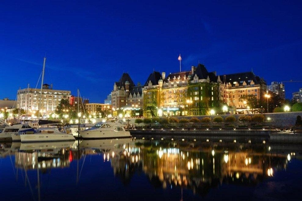 The Fairmont Empress at night