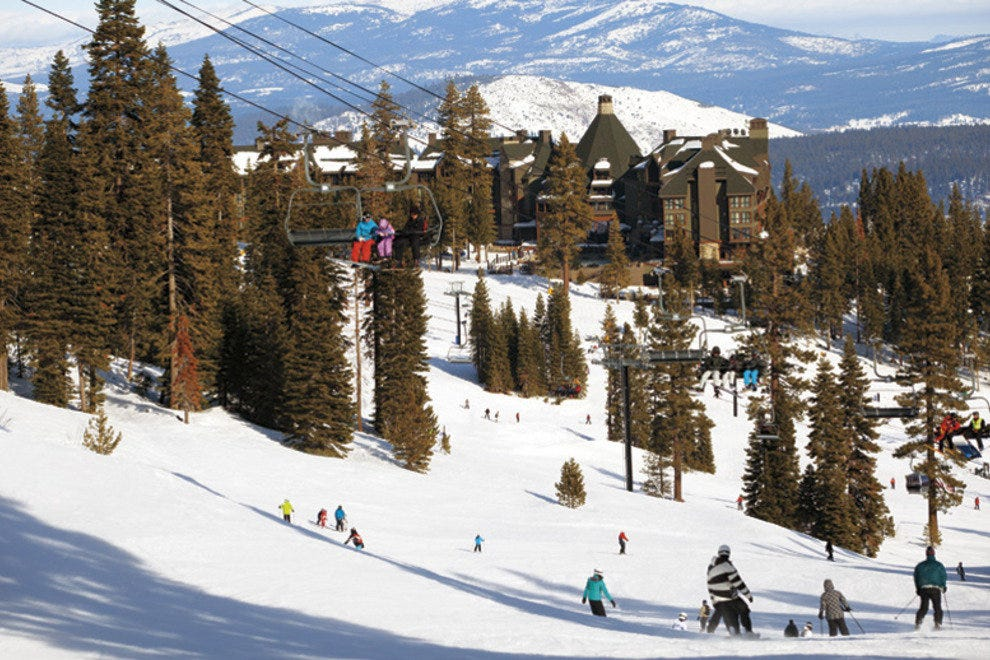 The Ritz-Carlton sits right in the middle of the ski resort