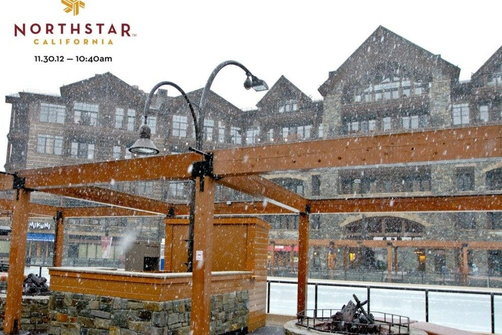 The Northstar resort is right next to the skating rink