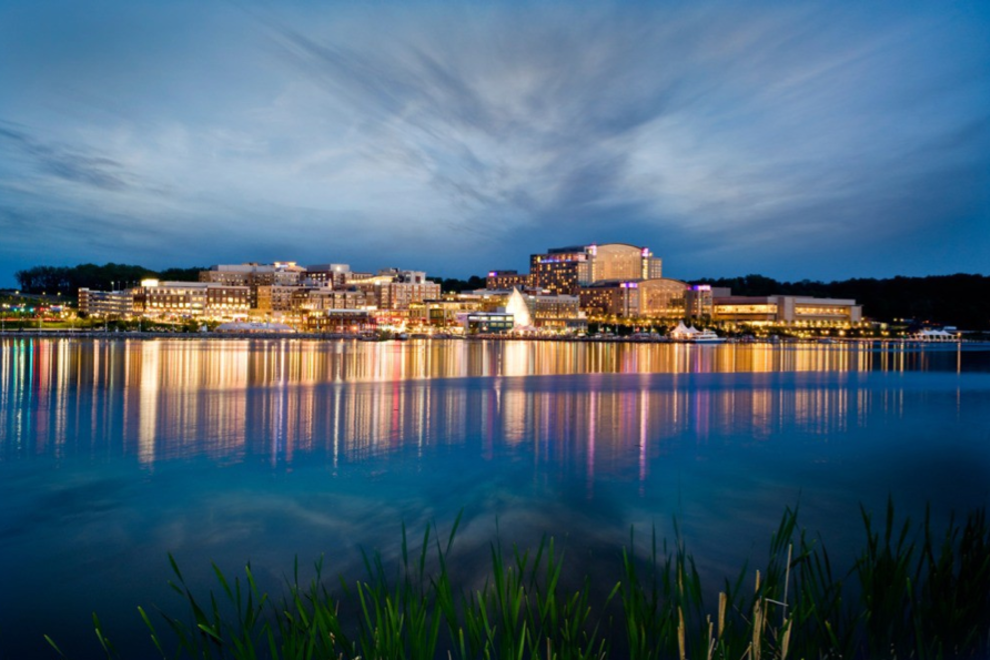 The National Harbor as seen from across the Potomac River.