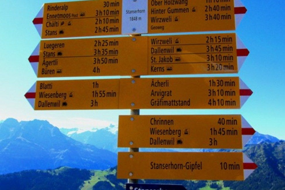 Mt. Stanserhorn Hiking Trails Switzerland