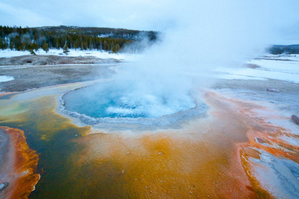 Morning Glory hot spring at Yellowstone