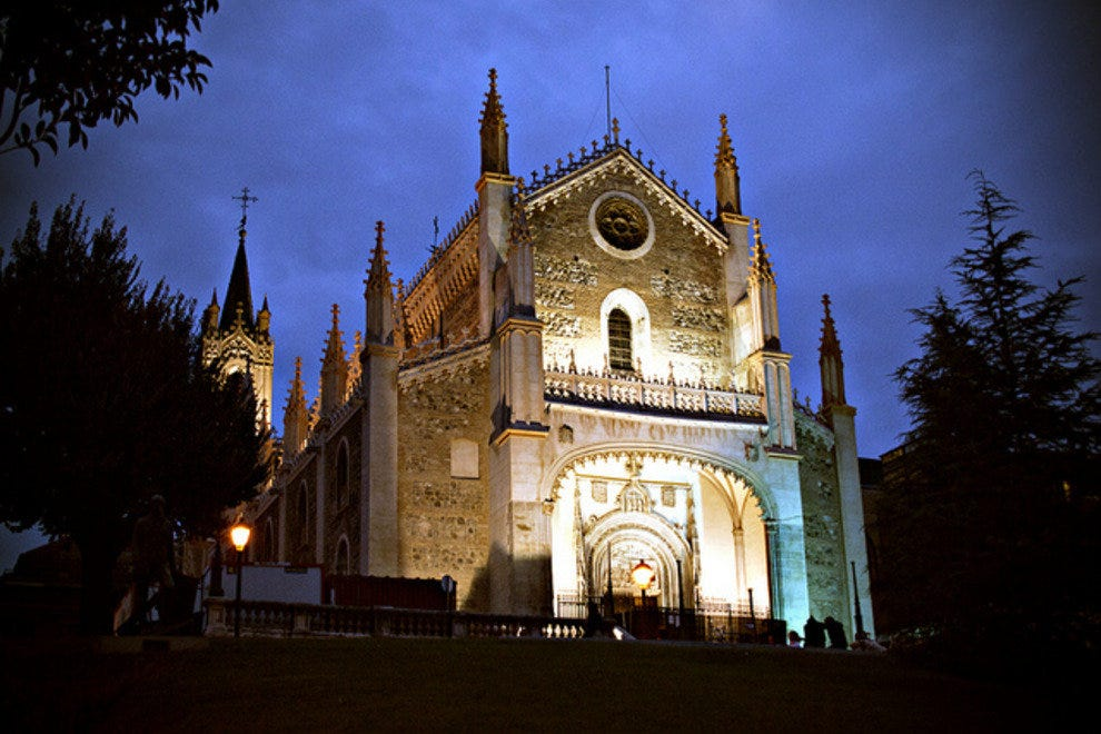 Night view of Saint Jerome Royal Church