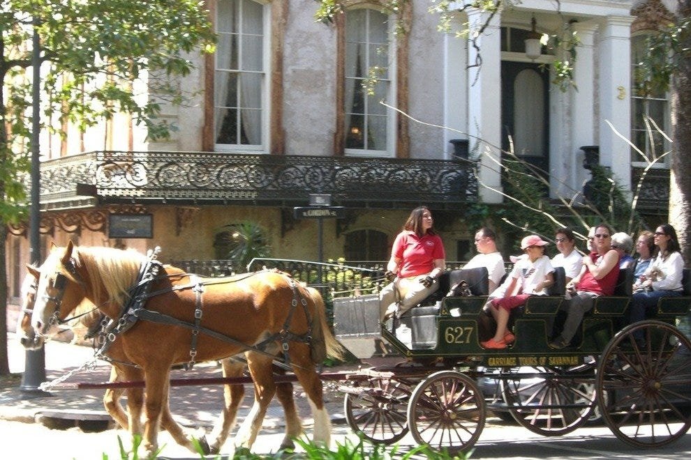 Thanks to Savannah's mild year-round climate, you can even enjoy a carriage ride in December