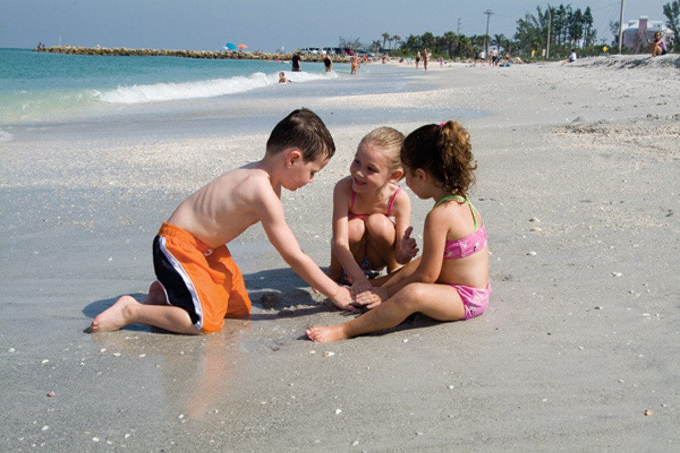 Kids playing on Sanibel Island